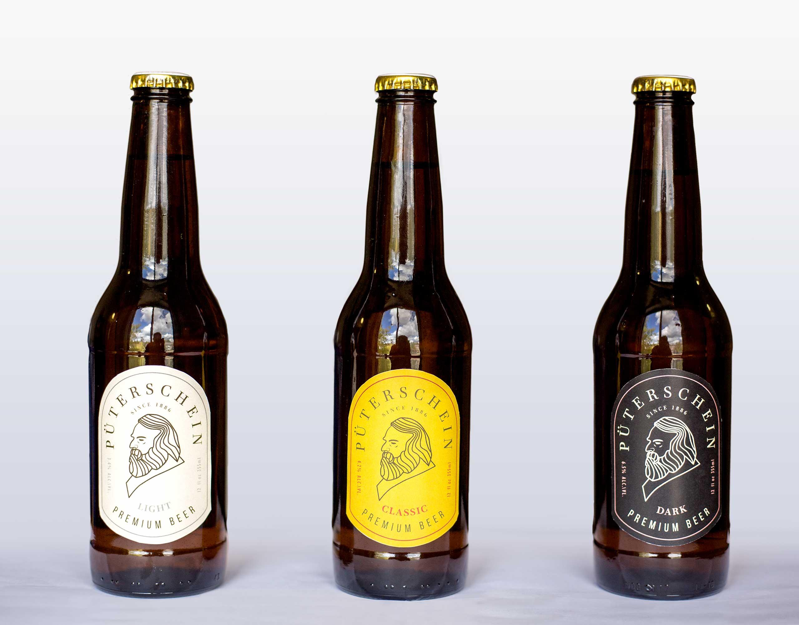 beer bottles prototypes