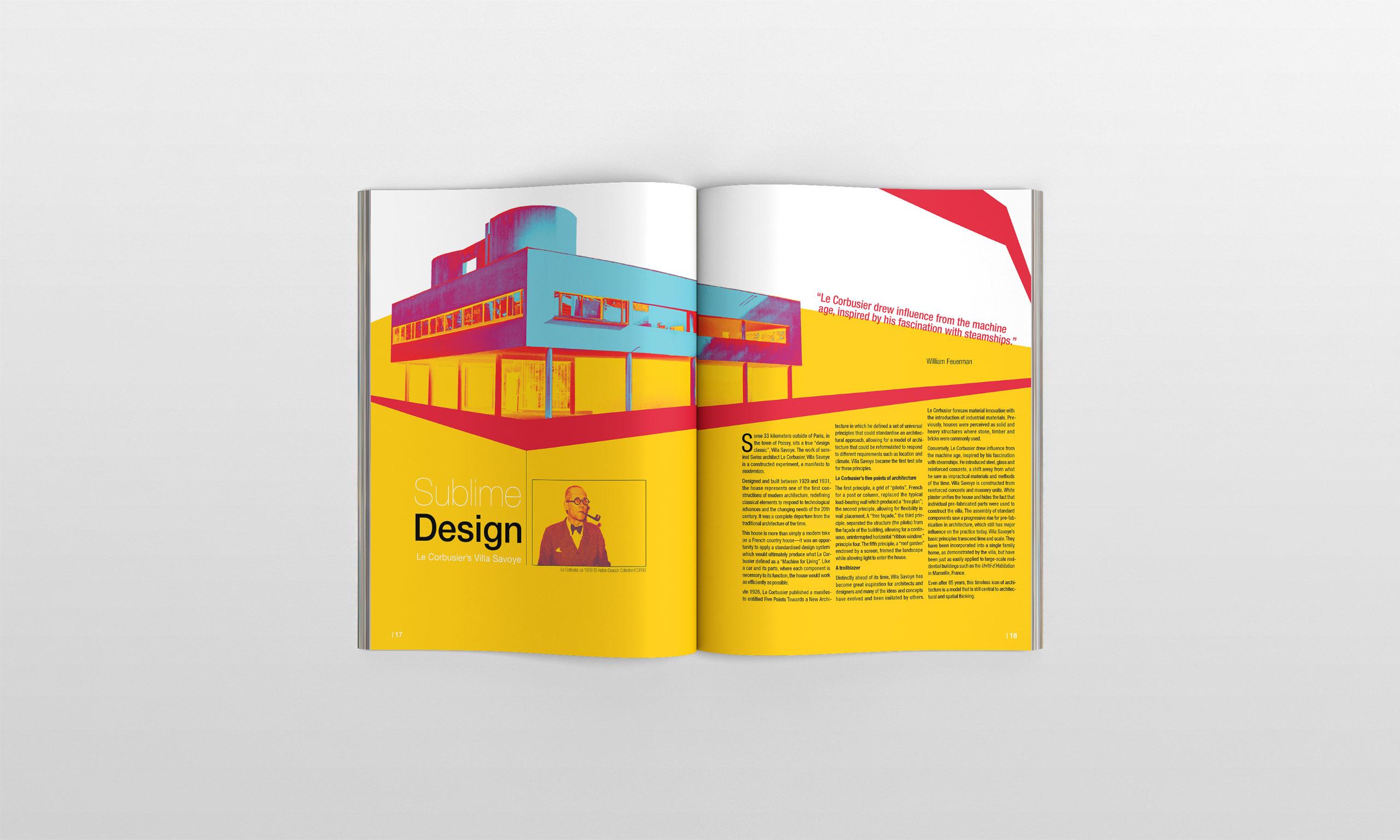 Le Corbusier Magazine Spread mockup