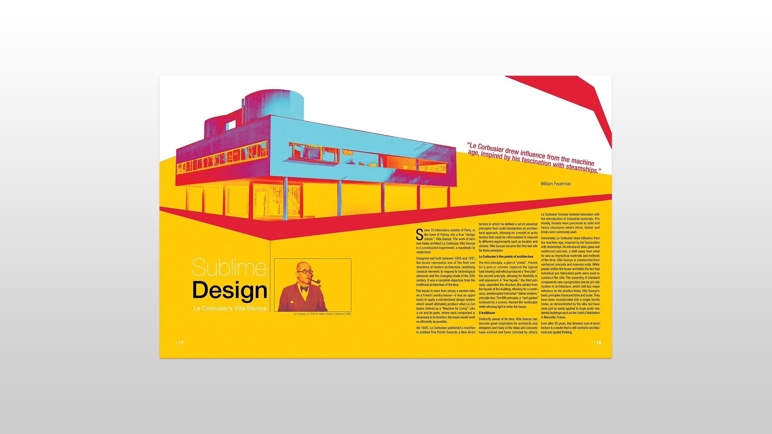 Le Corbusier Magazine Spread