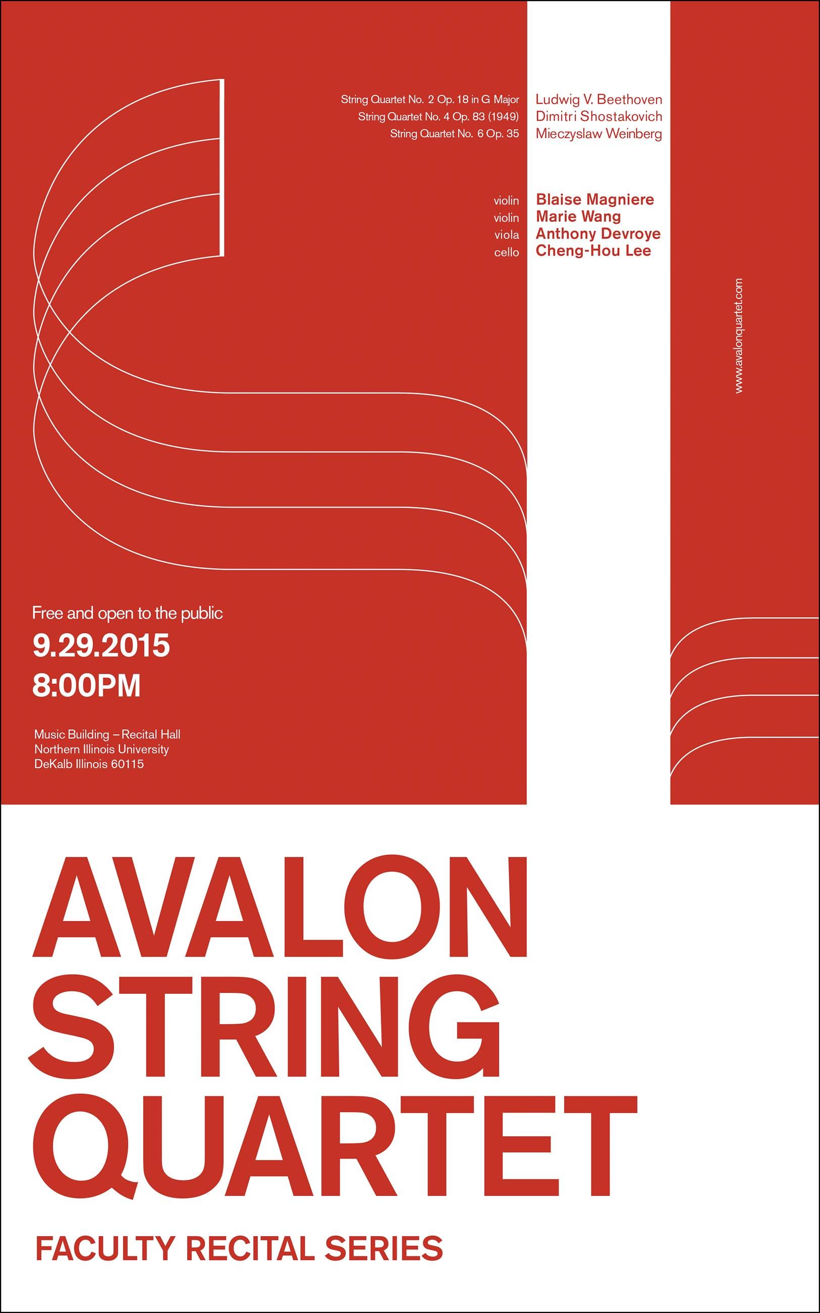 avalon string quartet music event poster