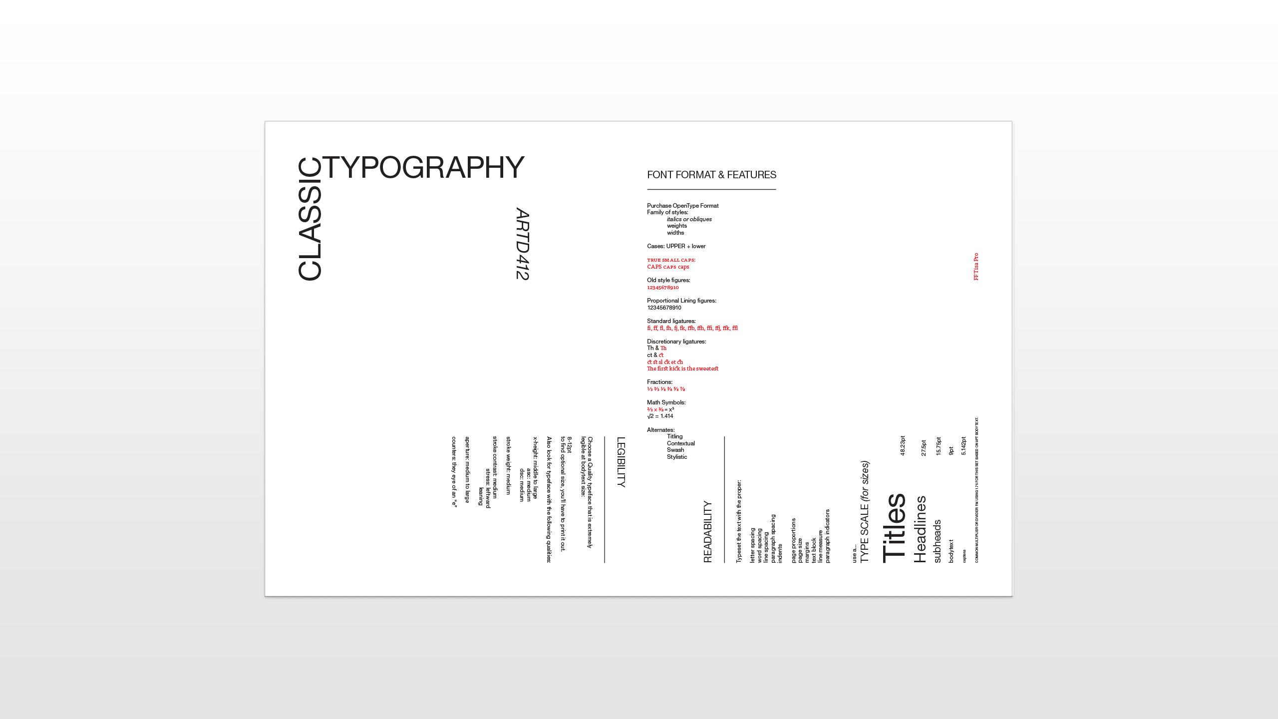 classic typography exercise