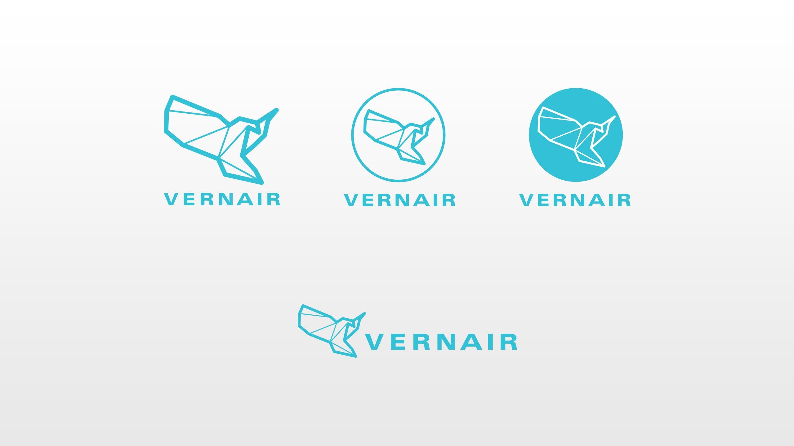 Vernair Airlines logos iterations