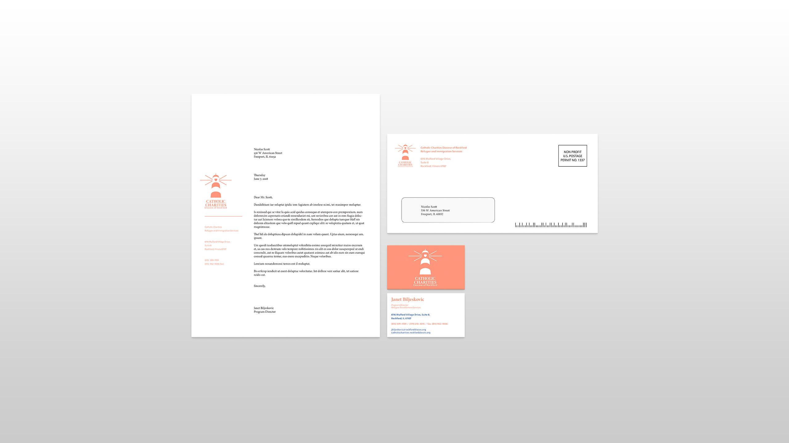 non-profit organization stationery