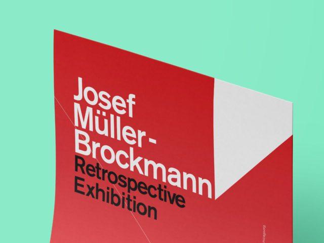 Josef Müller-Brockmann typography exercise poster